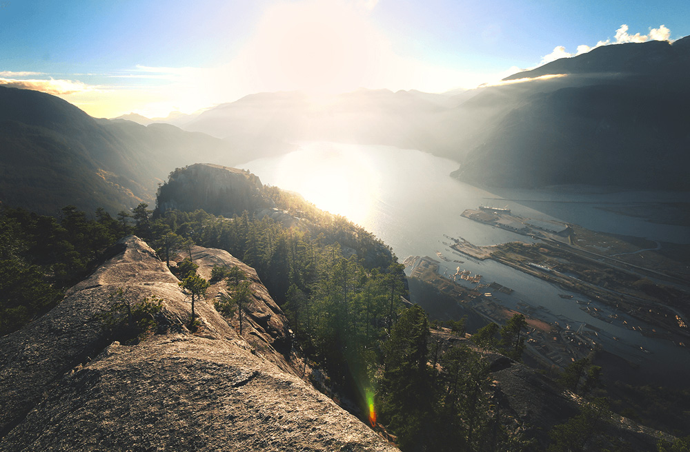 This view of Stawamus Chief is an award for the climb in Squamish