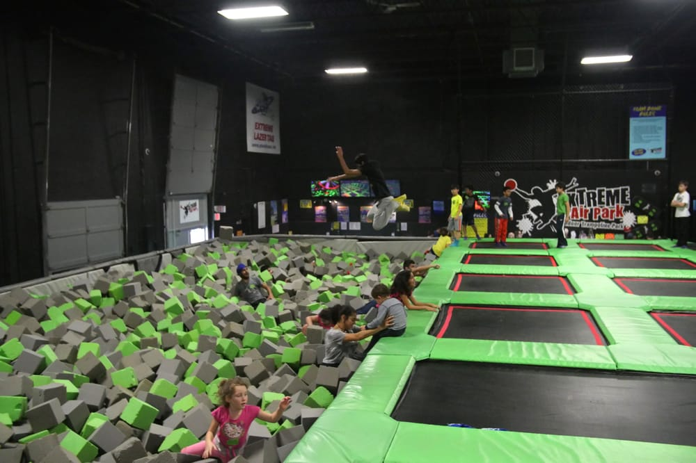 Langley's Extreme Air Park is where you'll find kids jumping like this